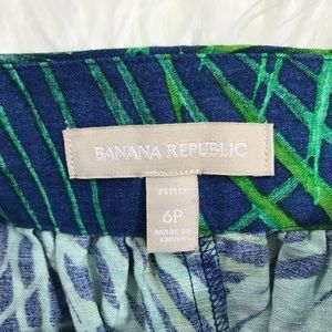 Banana Republic Skirts - Banana Republic Fern Print Full Mini Skirt Size 6P